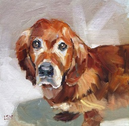 Pet Portraits paintings by Linda S. Marino, oil painting, golden retriever painting, custom pet portraits