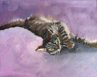 pet portrait painting by Linda S. Marino, oil painting, cat painting, custom pet portraits