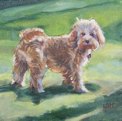 Pet portrait painting by Linda S. Marino, oil painting, dog painting, rescue dog, custom pet portraits