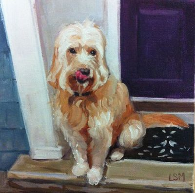 Pet Portraits painting  by Linda S. Marino, oil painting, custom pet portrait