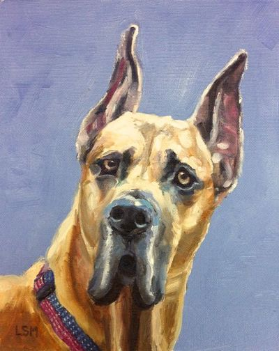 Pet Portraits painting  by Linda S. Marino, oil painting, custom dog painting