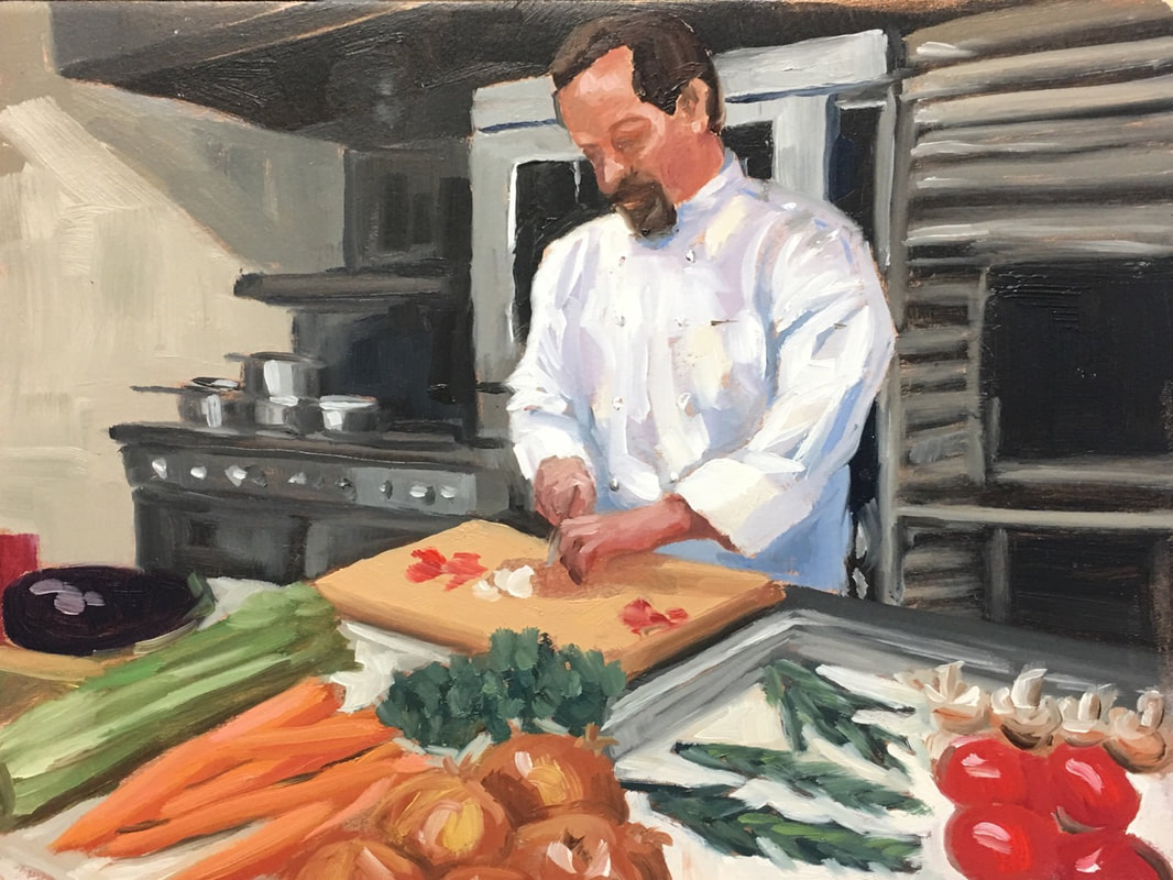 Chef-Kitchen-Oil-Painting-Linda-Marino